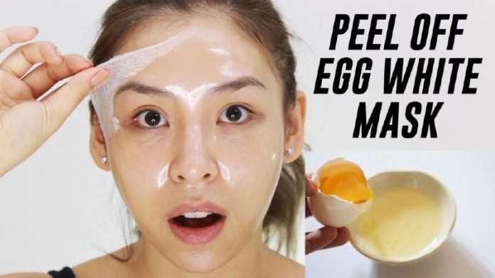 พอกหน้าด้วยไข่ขาว