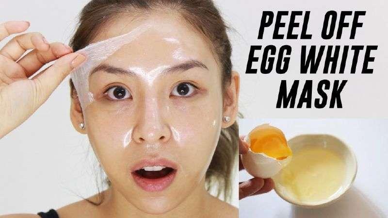 สูตรไข่ขาวพอกหน้า